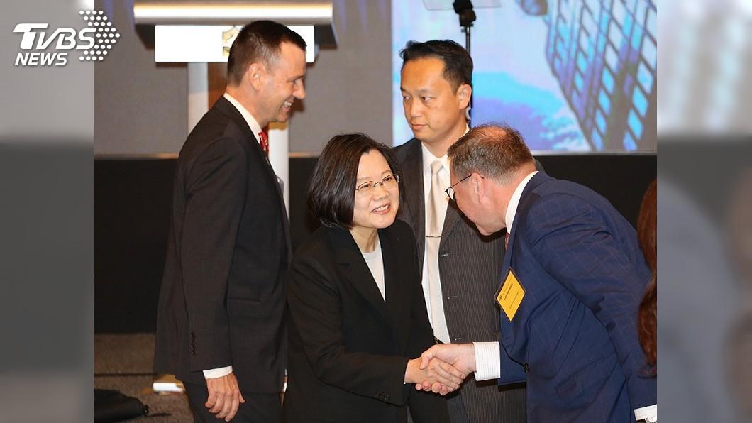 圖/中央社 蔡總統盼台美簽雙邊貿易協定 提升兩國產業競爭力