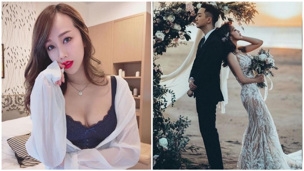 有「最美空姐」稱號的林佩瑤,日前宣布將在年底完婚。(圖/翻攝自林佩瑤臉書) 完勝林志玲!「最美空姐」秀超辣裸紗 美胸翹臀全看光