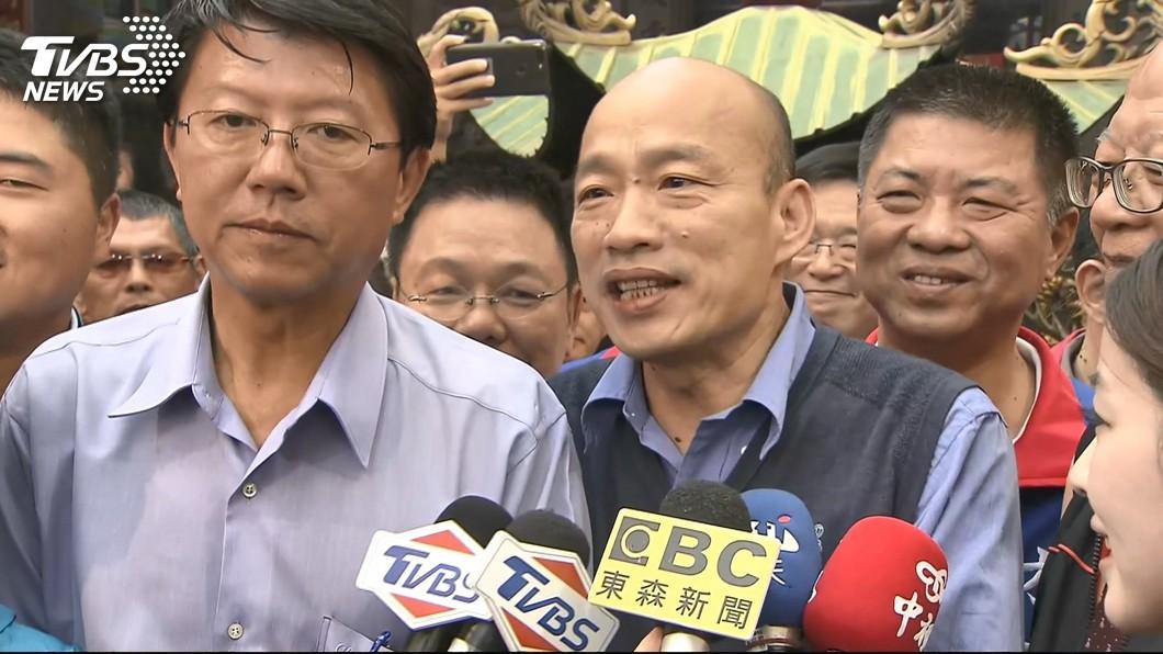 謝龍介表示,韓國瑜在年輕人的支持度愈來愈增加,看好能夠勝選。(圖/TVBS) 逐漸認識韓國瑜 謝龍介:挺韓年輕人持續增加