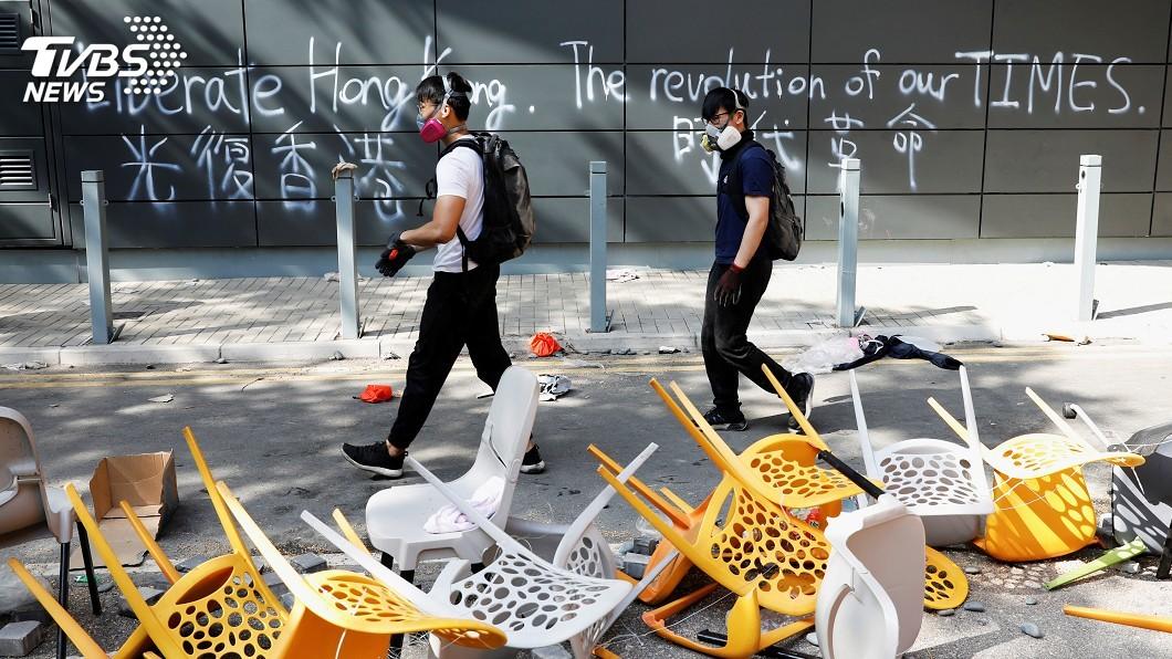圖/達志影像路透社 香港區議會選舉 能否如期舉行仍未定