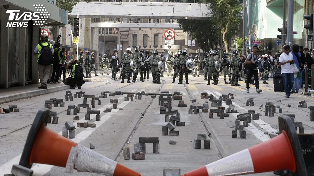 圖/達志影像美聯社 《香港法案》將送白宮 川普難躲反送中表態