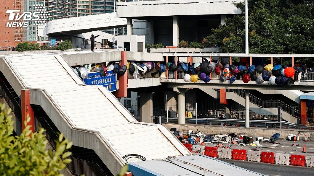 圖/達志影像路透社 理工大學圍城記後 川普料將簽《香港人權法案》