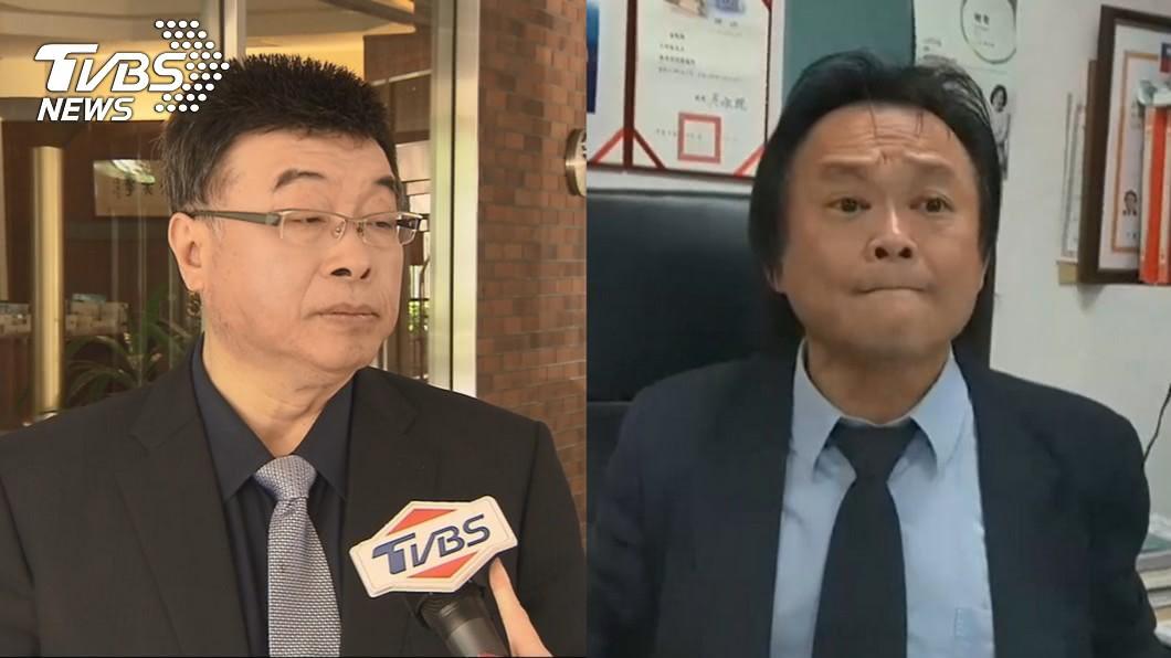 前立委邱毅(左)、台北市議員王世堅(右)。圖/TVBS資料畫面 邱毅列新黨不分區首位 王世堅隔空1句話嗆爆