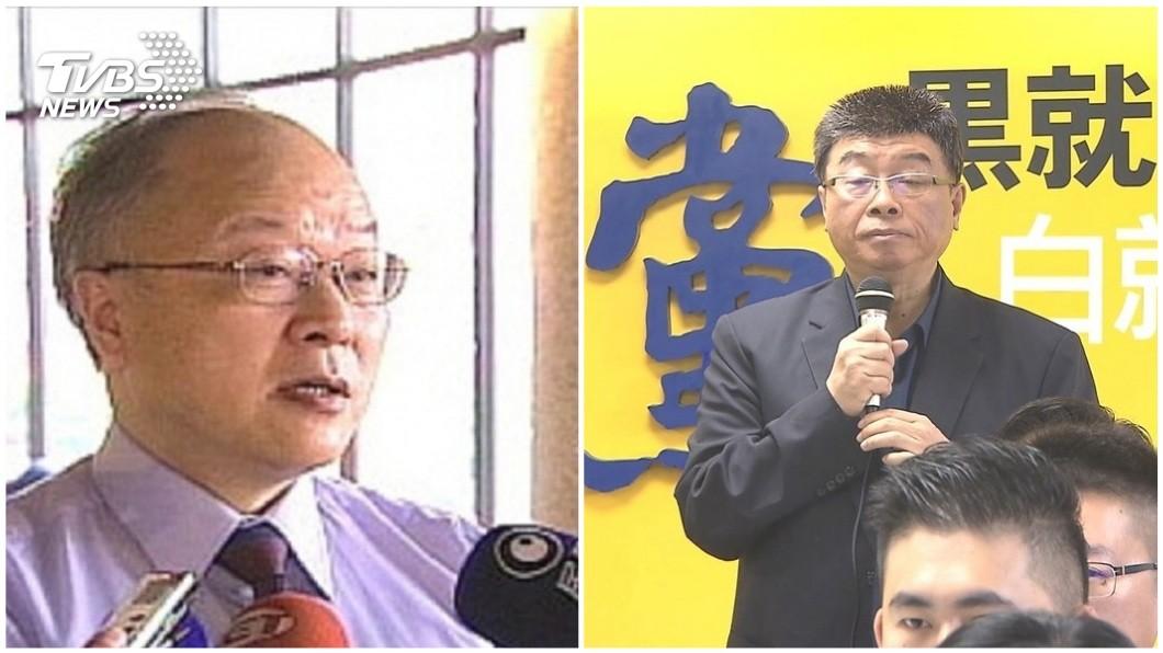 郭冠英現身中選會稱說代表共產黨監督台灣的選舉,對此邱毅被問到此事,他說自己和郭冠英不認識。(合成圖/TVBS) 郭冠英「幫共產黨監督選舉」現身中選會 邱毅撇和他不熟