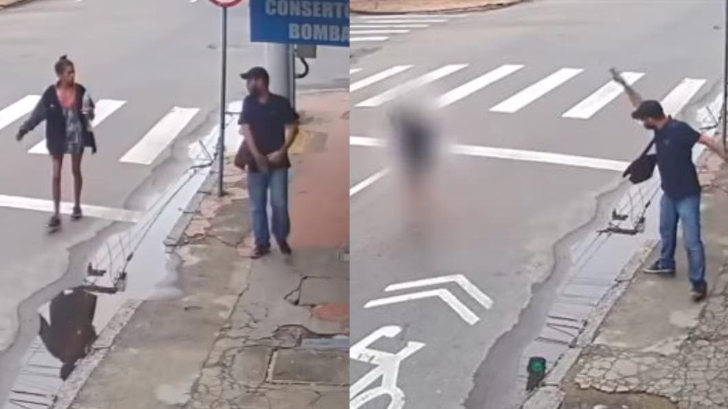 翻攝/YouTube 驚!女街友乞討7元買飯吃 冷血男竟掏槍直接擊斃