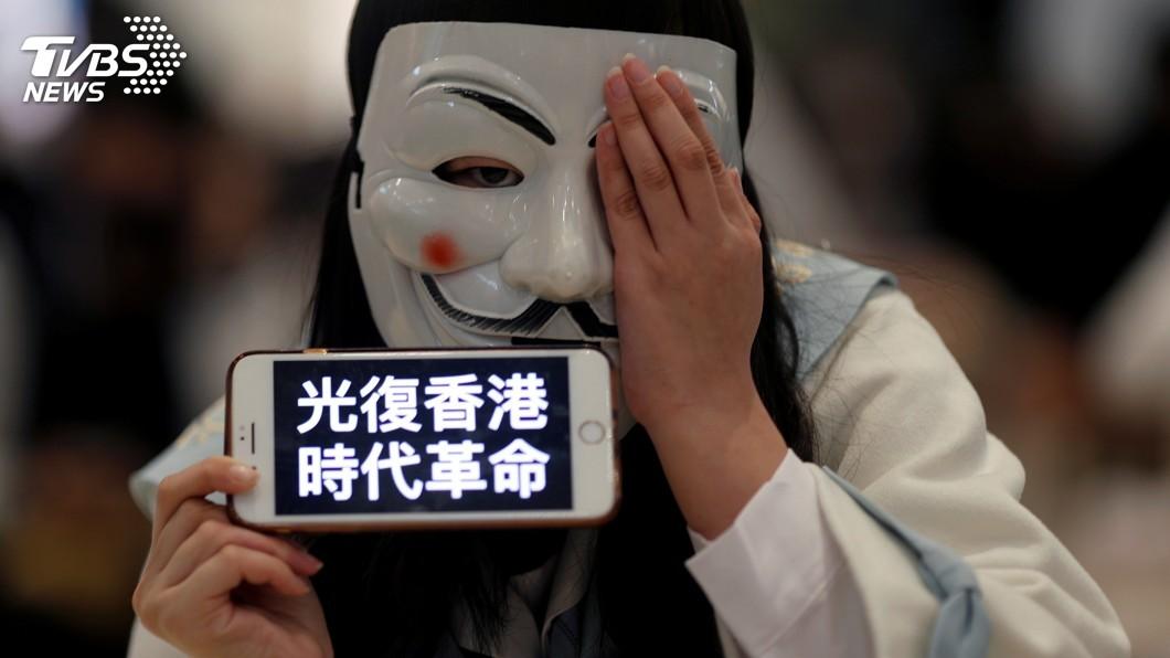 圖/達志影像路透社 港區議會選舉24日登場 光復香港轉為投票競爭