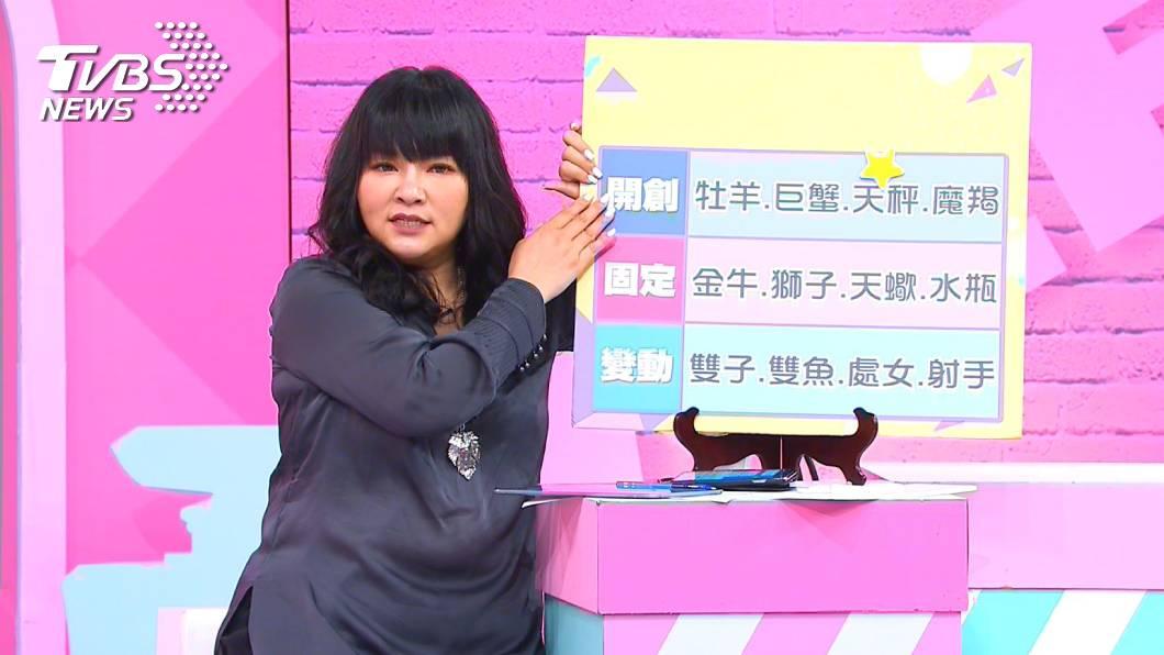 《女人我最大》唐老師說明哪個星座女最有心機。圖/TVBS TVBS《女人我最大》12星座哪個星座女最有心機