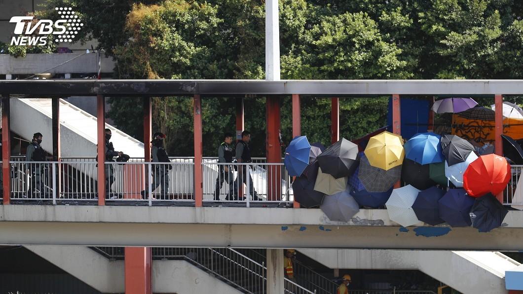 圖/達志影像美聯社 香港區議會選舉 學者:關鍵游離選民3至4成