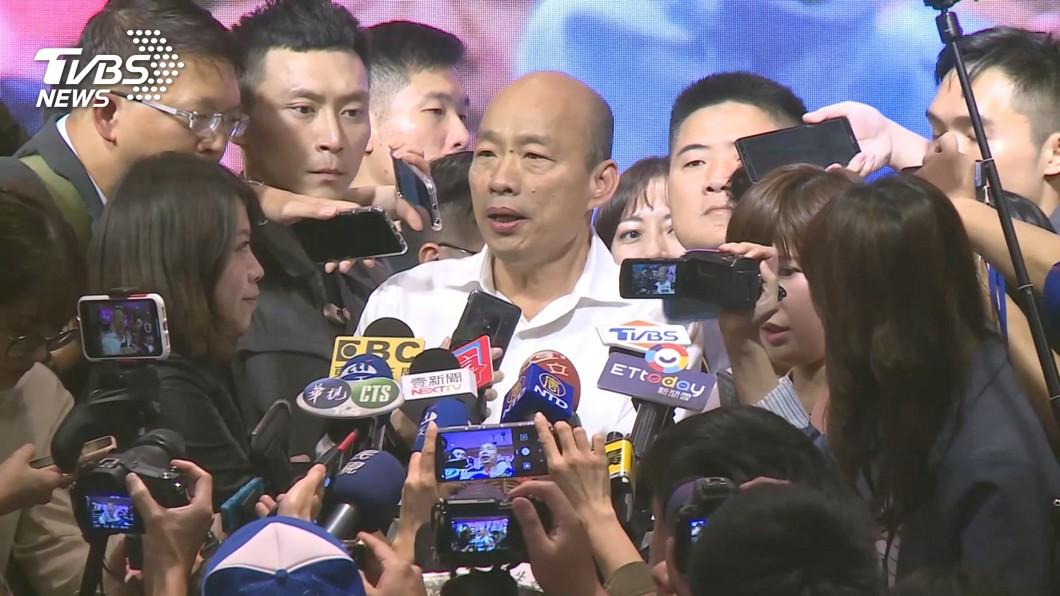 圖/TVBS資料畫面 用8千萬介入?韓國瑜超怒:有拿中共錢就退出總統大選