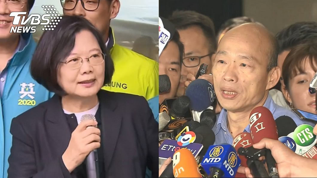 圖/TVBS資料畫面 遭小英狠酸沒上班 韓國瑜反嗆:她拚選舉又領薪水