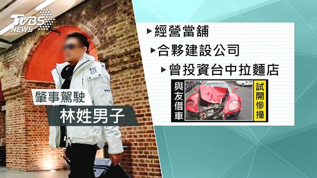圖/TVBS資料畫面 疑飆速撞死女騎士 「新莊小林哥」擁雙妻家中停滿超跑
