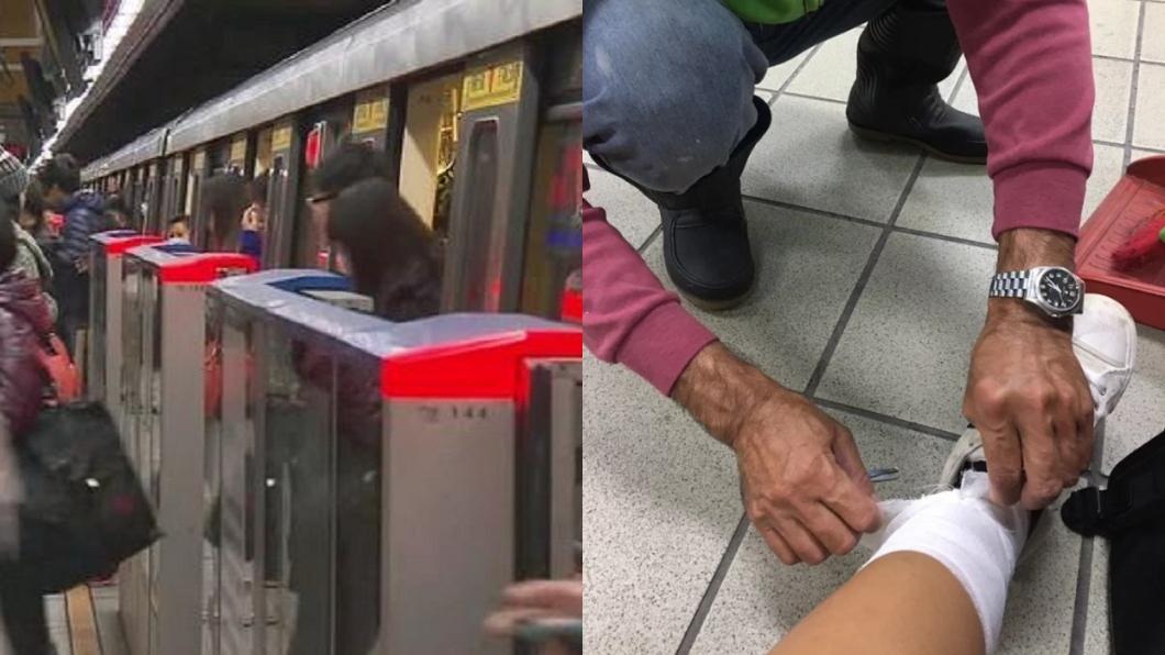 左圖/TVBS示意圖。右圖/翻攝自Dcard 她腿腫坐空地包紮 清潔伯「1暖舉」萬人飆淚:想爺爺了