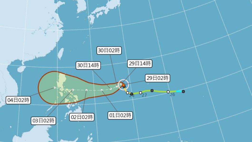 圖/翻攝自中央氣象局官網 下週東北部低溫現14度 北冕恐成強颱時間點曝光