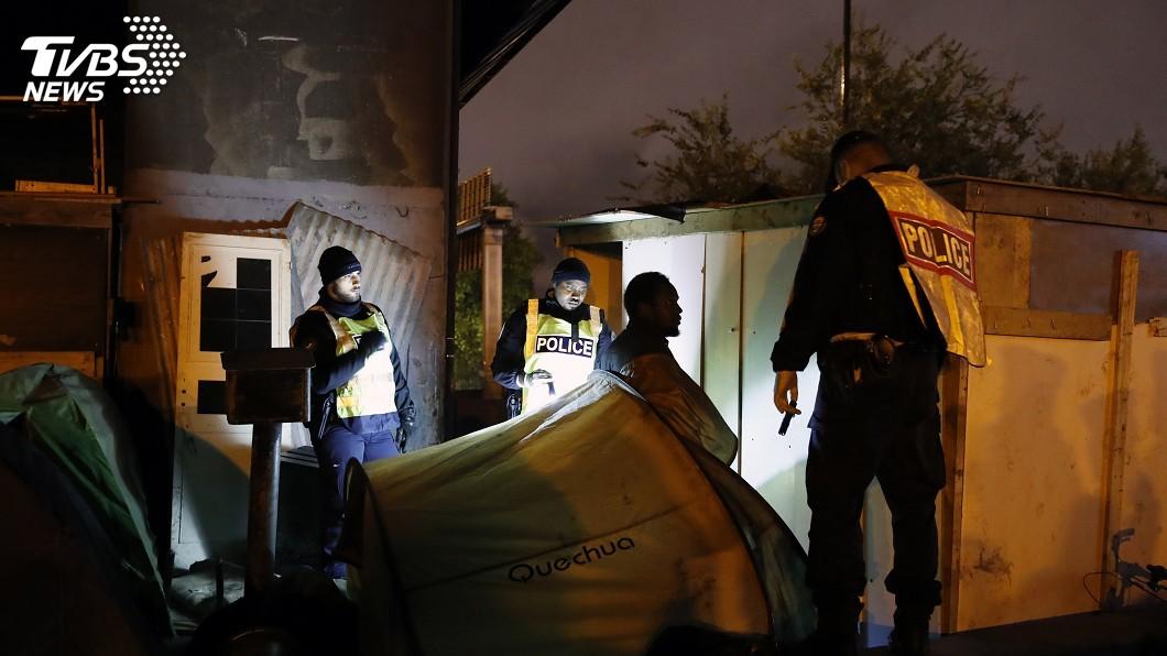 圖/達志影像美聯社 整頓移民 法國開始移走巴黎北方非法營區