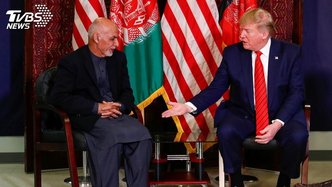 圖/達志影像路透社 事前保密到家 川普首訪阿富汗宣布與塔利班復談