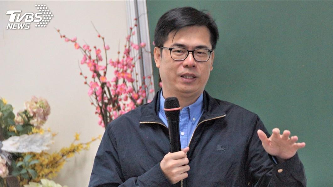 圖/中央社 韓國瑜批辭市長是假議題 陳其邁:他不可能辭