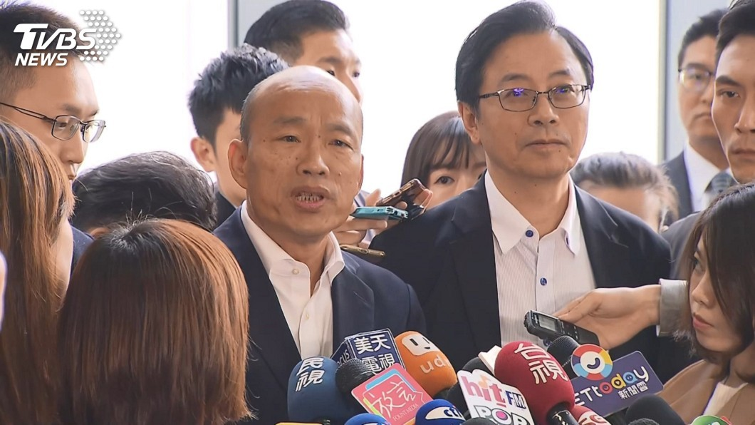 國民黨總統候選人韓國瑜(左)。圖/TVBS資料畫面 「選舉越髒執政必貪腐」 韓國瑜嗆:若貪污把我關到死