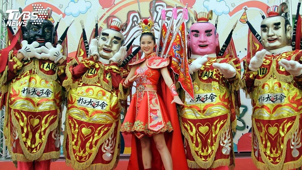 圖/中央社 宣傳嘉義太子文化季 國際小姐台灣代表盛裝呼應