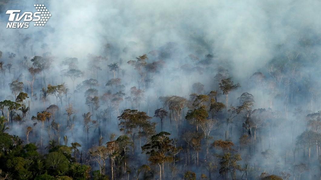 圖/達志影像路透社 亞馬遜森林火災 可能加速南美冰河融化