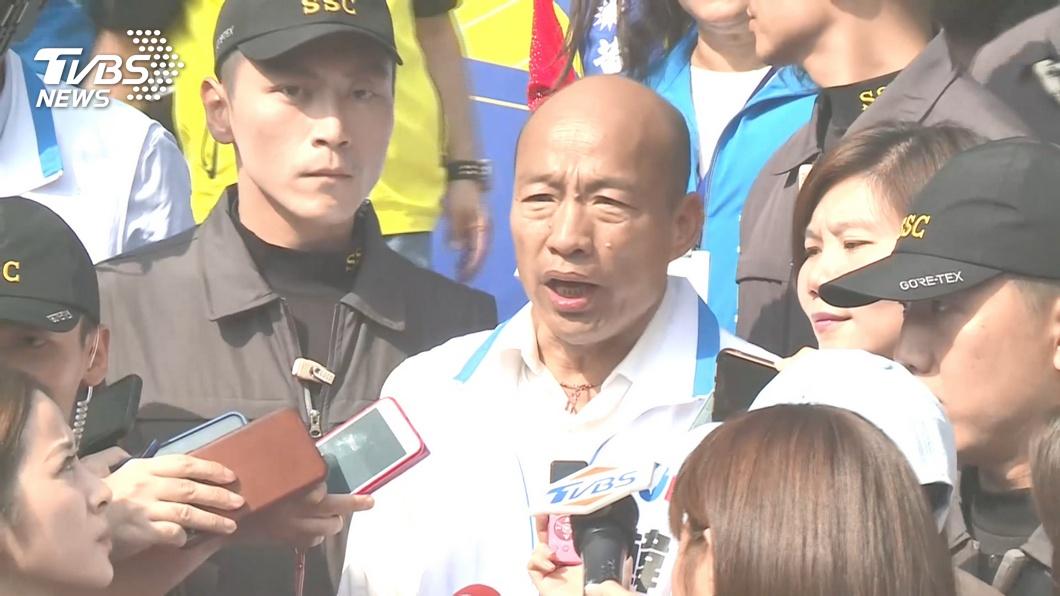圖/TVBS資料畫面 批蔡政府任網軍害死外交官 韓國瑜:我上任後一定查