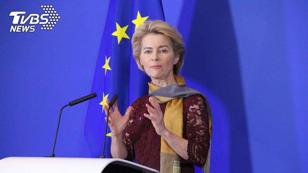 歐盟執委會史上首位女主席范德賴恩今天正式上任,她強調將打造一個更強大的聯盟,讓歐洲成為冠軍。圖/中央社 歐盟首位女主席上任 誓言讓歐洲成為冠軍