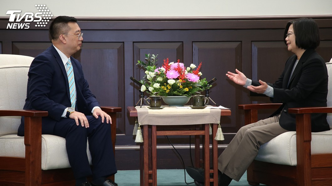 圖/中央社 蔡總統不捨黃偉權將離任 盼台星關係更提升