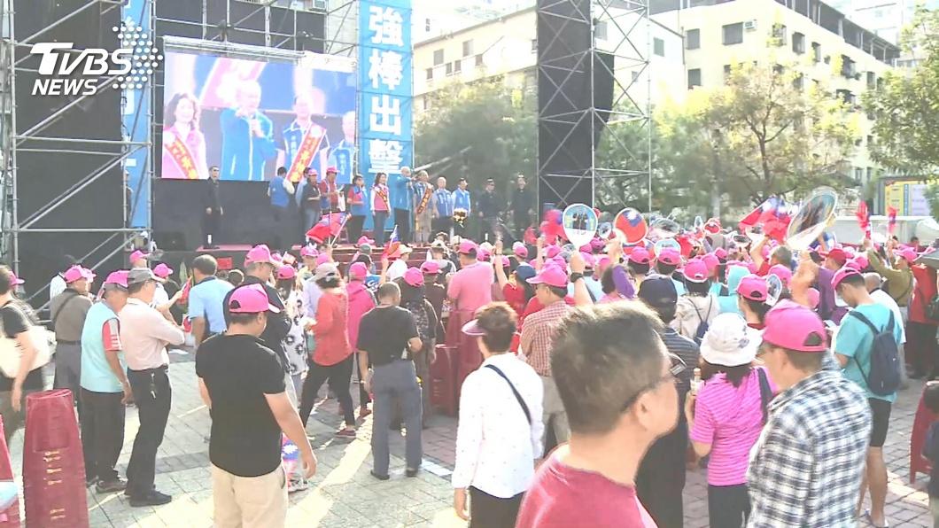 圖/TVBS 超尷尬!韓離去、吳敦義登台 大批群眾散場