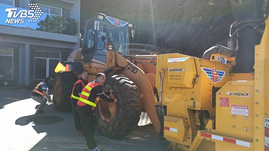 圖/公路總局提供 合歡山有機會下雪 公路總局鏟雪車進駐待命