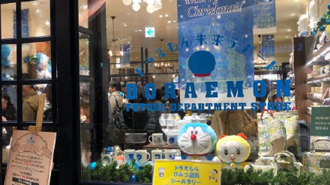 圖/翻攝自幸福的多啦a梦微博 漫畫世界變真實 「哆啦A夢百貨」東京開幕