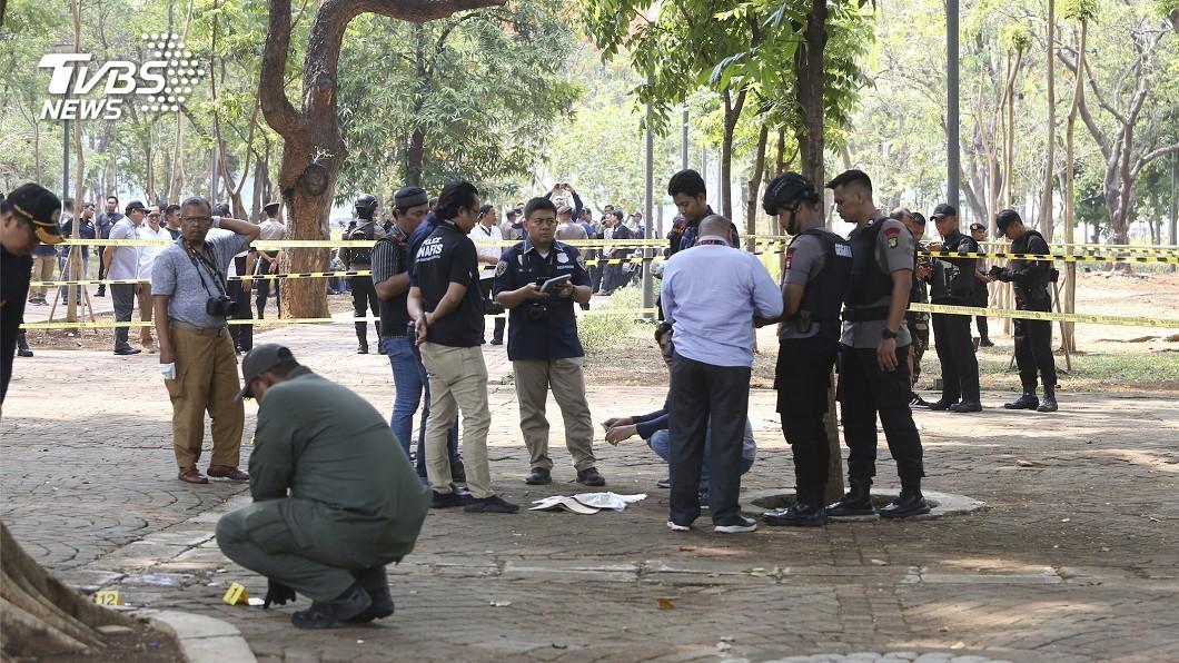圖/達志影像美聯社 印尼總統府附近驚傳爆炸 2名軍警操練中受傷