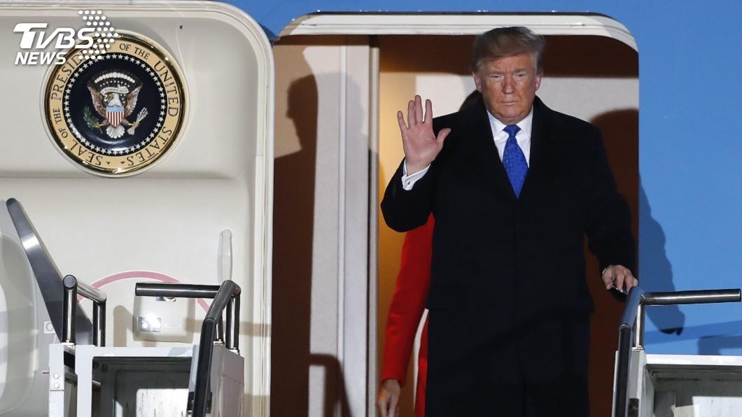 圖/達志影像美聯社 川普抵英出席北約峰會 強生捏把冷汗憂衝擊大選