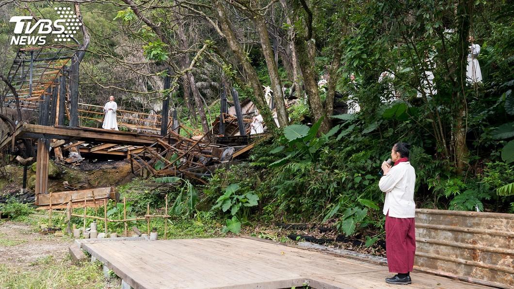 圖/中央社 優人神鼓山上劇場重建 邀民眾參與對話自然