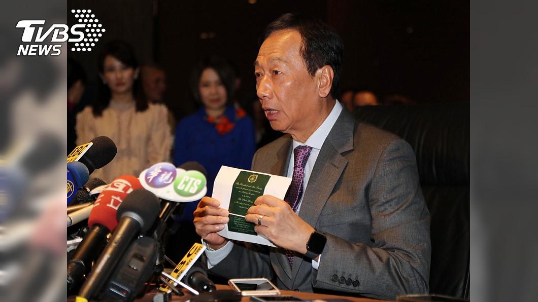圖/中央社 「國會綠油油一片」 郭台銘:不要讓民進黨通吃!