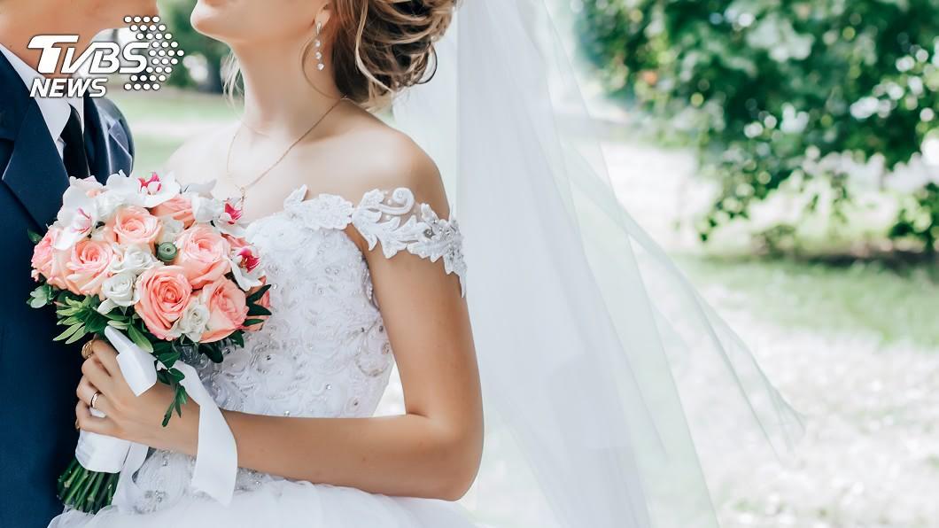 每位女性總希望在婚禮時,是全場最美最矚目的最佳女主角。(示意圖/TVBS) 新娘婚紗胸口洩心機 網驚:一切都是幻覺
