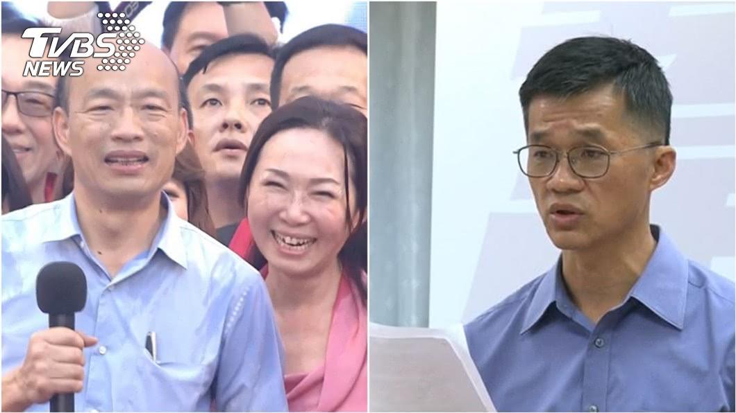 韓國瑜和夫人李佳芬(左圖)、李佳芬弟弟李明哲(右圖)。圖/TVBS資料照 家族爆盜採砂石 李佳芬弟揭真相要「蔡英文遏止假新聞」