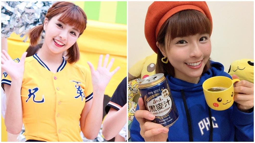 中信兄弟的啦啦隊員峮峮,在台灣和日本都擁有高人氣。(圖/翻攝自峮峮臉書) 峮峮夯到日本 登雜誌封面被稱「台灣第一啦啦隊美少女」