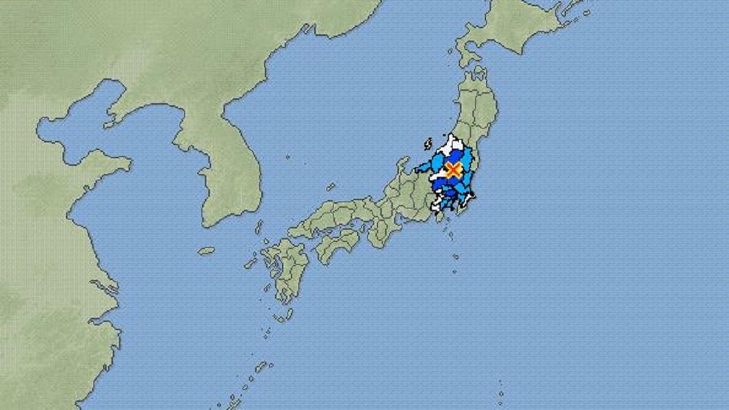 圖/翻攝自日本氣象廳 關東地震頻傳 「直下地震」恐釀20萬人傷亡