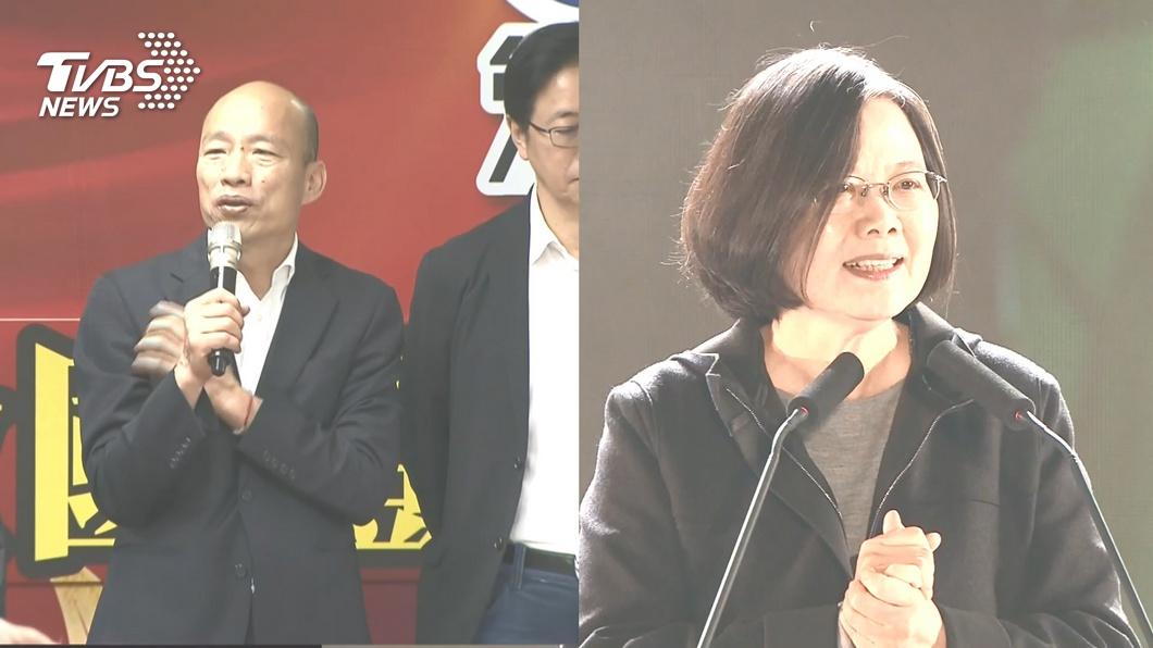 目前各家民調顯示,現任總統蔡英文都穩定領先韓國瑜。(圖/TVBS) 綠5大案纏身選情翻轉?韓粉:韓國瑜會贏250萬票