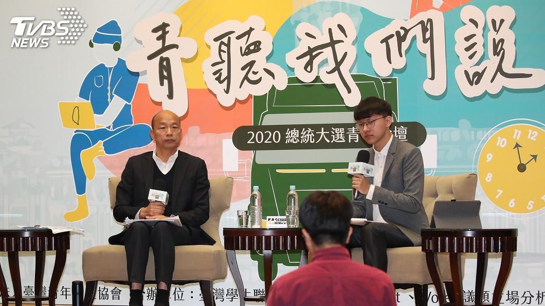 圖/中央社 稱20億助青創卻只有2千萬 韓國瑜:企業口頭說