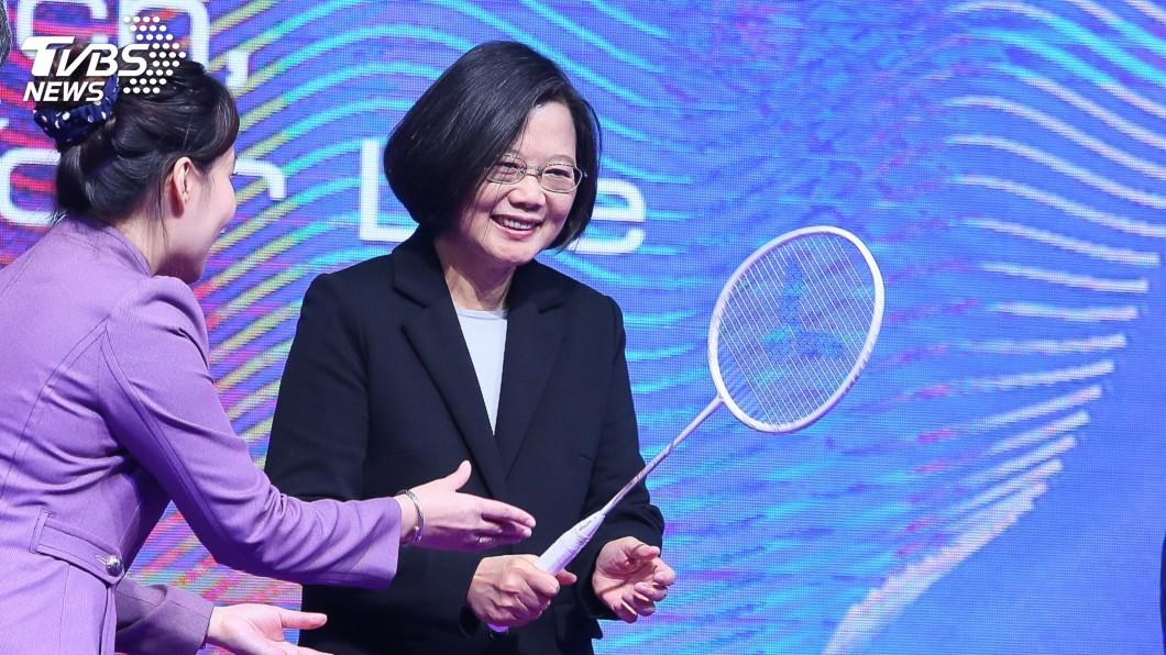 圖/中央社 蔡總統推太空產業 未來10年每年發射一顆衛星
