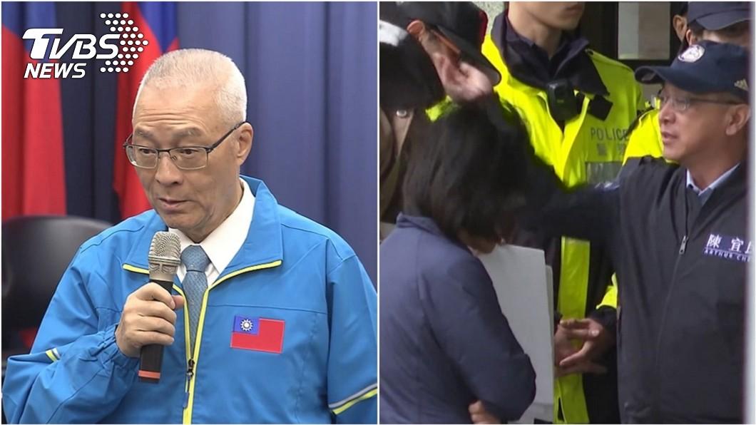圖/TVBS資料照 藍委拍掉女警帽子惹議 吳敦義:當然是小意外