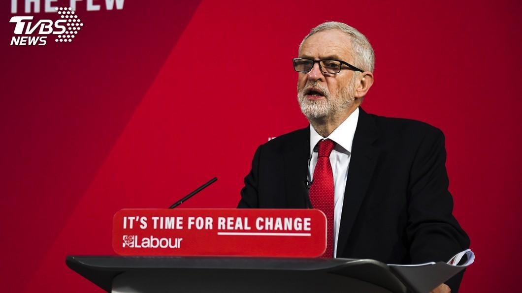 圖/達志影像美聯社 英工黨黨魁柯賓 70歲高齡挑戰首相大位