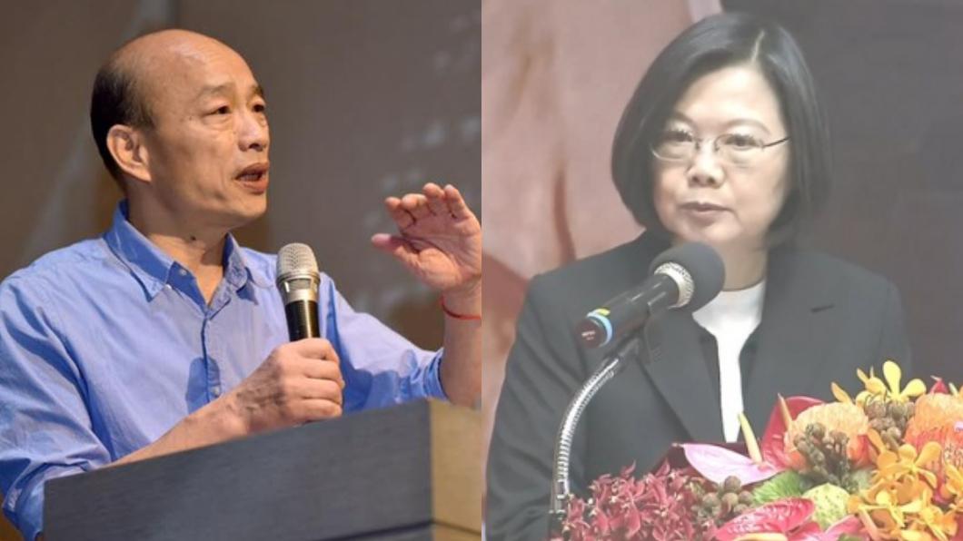 圖/翻攝自韓國瑜臉書、TVBS資料畫面 總統辯論恐破局 韓:不接受蔡指定特定媒體