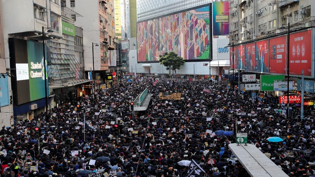 圖/達志影像路透 爭民主不會停!迎人權日12.8香港大遊行