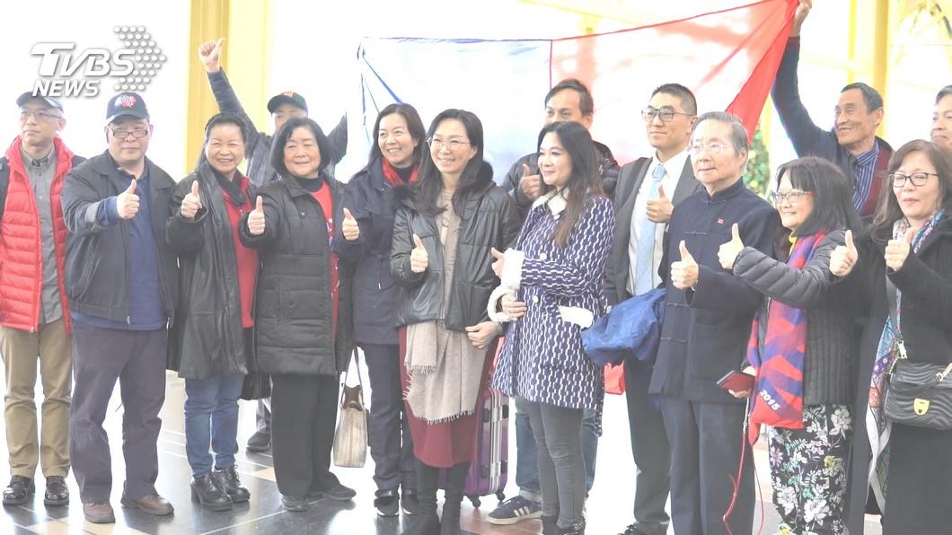 圖/TVBS 紐約僑界開百桌挺韓 李佳芬疾呼返台投票