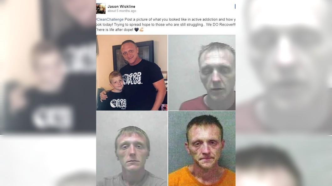 圖/翻攝自Jason Wickline臉書 4歲兒一句話喚醒他 單親爸痛下決心戒毒人生翻轉