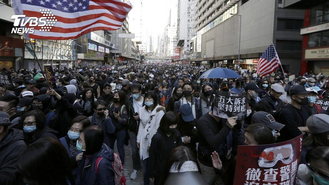 圖/達志影像美聯社 時代風雲人物 「香港示威者」躋身10強