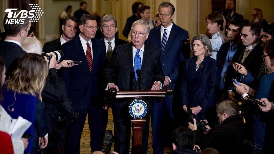 圖/達志影像美聯社 川普彈劾案 參院多數黨領袖提議快速審判