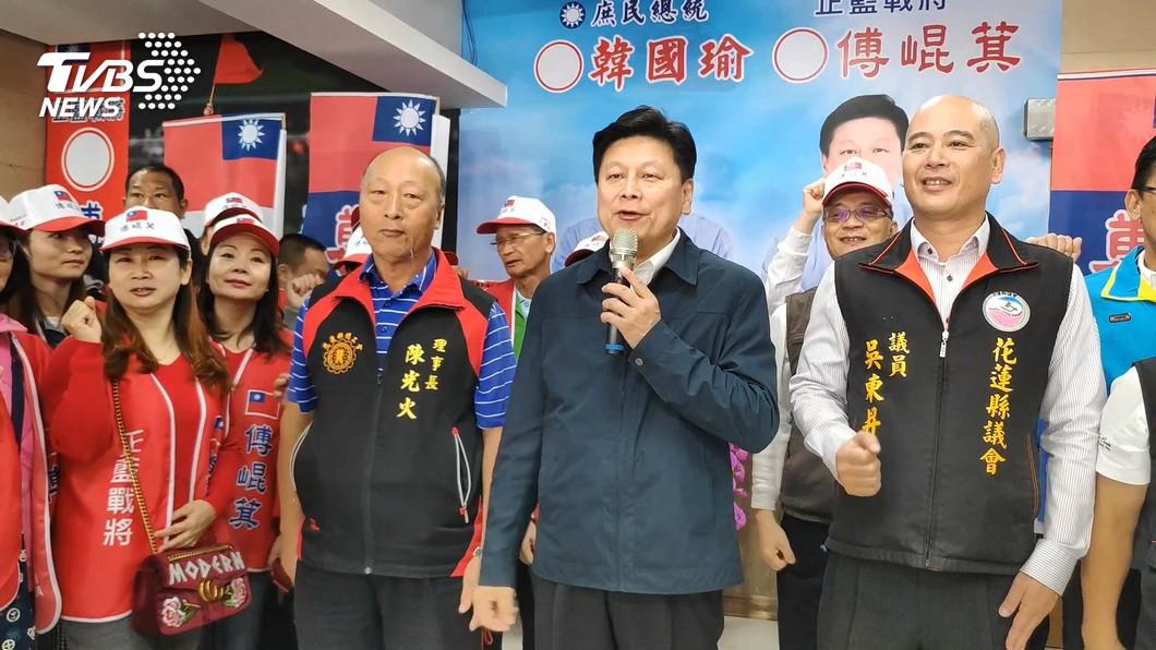 圖/TVBS 緊繃! TVBS民調傅崐萁只領先蕭美琴1.8%