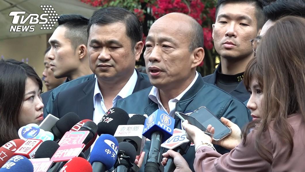 國民黨總統參選人韓國瑜。圖/TVBS 張善政失言遭砲轟 韓國瑜緩頰:他比較單純、純潔